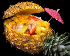 Креветки в ананасе