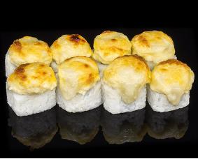 Запеченный ролл с козьим сыром и инжиром